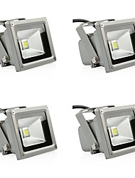 cheap -4pcs 10W Led Flood Light 900LM Warm/Cool White IP65 Reflector Floodlight Waterproof for Garden Lamp Outdoor Lighting AC85-265V