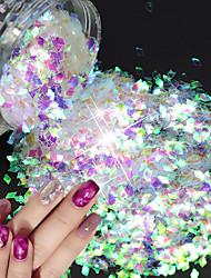 cheap -1pc Sequins / Nail Glitter Sparkle & Shine / Laser Holographic Nail Art Design