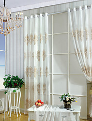 cheap -Sheer Curtains Shades Living Room Embroidered Embroidery