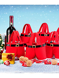 1 Piece Fashion Christmas Santa Pants  Candy Bags Xmas Decoration Sack Cute Child Gift Home Party Decor