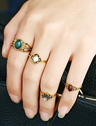 Mulheres Anéis Grossos Anel cuff Anel Circular Animal Moda Personalizado Rock Euramerican Liga de Metal Resina Strass LigaFormato