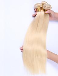 Beata Hair Bleach Blonde Straight Human Hair Extensions 100g Brazilian Hair Bundles 3Pcs/Lot Remy Hair #613 Color 10-24 Inch
