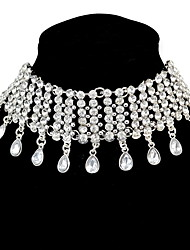 Choker Necklaces Euramerican Fashion Female Collarbone Droplets Necklaces Rhinestone Party Daily Business Movie Jewelry