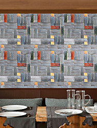 cheap -Geometric Art Deco 3D Wallpaper For Home Modern Wall Covering , PVC/Vinyl Material Self adhesive Wallpaper , Room Wallcovering