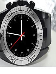 Homens Relógio Inteligente Digital Borracha Banda Preta