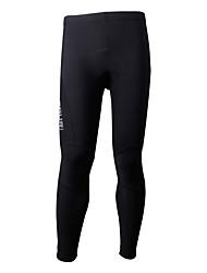baratos -SPAKCT Homens Calças Elásticas para Ciclismo Moto Calças Sólido Elastano, Tactel, Coolmax® Preto Roupa de Ciclismo