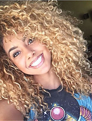613 Blonde Kinky Curly Brazilian Human Virgin Hair Wigs Glueless Lace Front Wigs With Baby Hair For Black Women