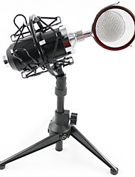 cheap -BM8000 Condenser Microphone Cardioid Pro Audio Studio Vocal Recording Mic with  Metal Shock Mount  Desktop Stand
