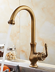 cheap -Antique European Deck Mounted Swivel Ceramic Valve Antique Copper, Kitchen faucet