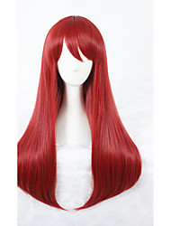 Scum's Wish Sanae Ebato Cosplay Wigs 26inch Long Straight Red Wig Synthetic Anime Cosplay Hair Wig 323B