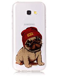 cheap -Case For Samsung Galaxy A5(2017) A3(2017) Phone Case TPU Material IMD Process Dog Pattern HD Flash Powder Phone Case