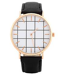 cheap -Women's Quartz Wrist Watch Chinese PU Band Candy color / Casual / Elegant / Fashion Black / White / Pink