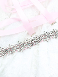 cheap -Satin / Tulle Wedding / Special Occasion / Halloween Sash With Rhinestone / Appliques Sashes