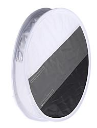 multifunctionele 12in / 31cm mini draagbare ronde on-camera flash speedlite diffuser softbox met witte / grijze / zwarte kleur voor Canon