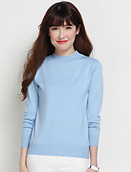 Normal Cardigan Femme Décontracté / Quotidien Couleur Pleine Col Ras du Cou Manches Longues Coton Eté Moyen Elastique