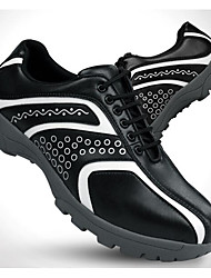 cheap -Men's Golf Shoes Vibram Golf Cowsuede Leather White / Black