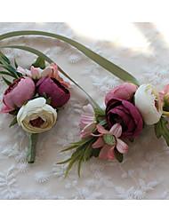 economico -Bouquet sposa Fiore all'occhiello Matrimonio Elastene 12 cm ca.