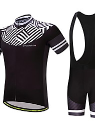 Cycling Jersey with Bib Shorts Men's Bike Clothing Suits Ventilation Quick Dry Back Pocket Spring/Fall Summer Cycling/Bike