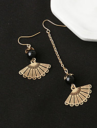 cheap -Women's Drop Earrings Jewelry Unique Design Dangling Style Mismatch Alloy Round Jewelry Gold Christmas Gifts Party Special Occasion