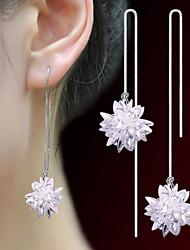 Жен. Серьги-кольца Базовый дизайн Хрусталь Бижутерия Назначение Свадьба