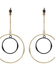 cheap -Drop Earrings Women's EuramericanNew Fashion Gold Silver Color Circle Round Drop Earrings Statement Earring Party Jewelry