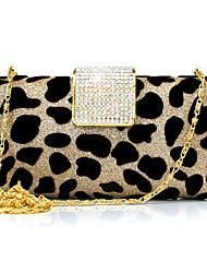 cheap -Women Bags Suede Evening Bag Leopard Rhinestone Chain for Wedding Event/Party Casual Sports Formal Outdoor Office & Career Spring/Fall