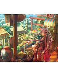 Недорогие -Пазлы Игрушки Замок Шлейф Знаменитое здание Бутылка Архитектура Мультяшная тематика Дерево Универсальные Куски