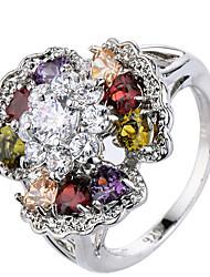 Women's Ring Settings Band Rings Ring Cubic Zirconia RhinestoneBasic Unique Design Rhinestone Geometric Classic Elegant Floral Durable