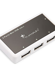 cheap -4 USB Hub USB 2.0 USB 2.0 With Power Adapter Data Hub