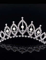 cheap -Crystal Rhinestone Alloy Tiaras 1 Wedding Special Occasion Party / Evening Headpiece