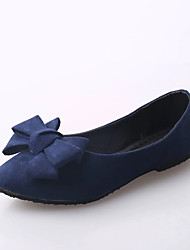 cheap -Women's Flats Comfort Light Soles Spring Summer PU Casual Dress Flat Heel Black Ruby Blue Under 1in