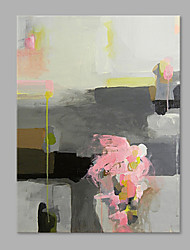 IARTS® Hand Painted Modern Abstract Oil Painting The Pink & Grey Soft Color with Stretched Frame Painting For Home Decoration Ready To Hang