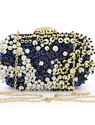 cheap -Women Bags Polyester Evening Bag Pearl Detailing Bead for Wedding Event/Party Casual Formal Office & Career All Seasons Blue