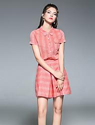 Maglietta Pantalone Completi abbigliamento Da donna Casual Moderno Estate,Stampe Colletto Stampe Manica corta Anelastico