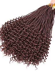 cheap -Crochet Braiding Hair 14inch Twisted Flashy Curl 34stands/pack Synthetic Ombre Curly Hair Extensions Senegalese Twist Hair
