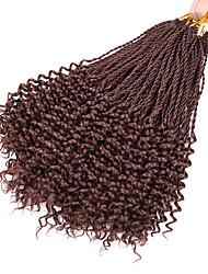 Недорогие -Волосы для кос Кудрявый / Вязаные Спиральные плетенки / Накладки из натуральных волос 100% волосы канекалона 30 корней / пакет косы волос Повседневные