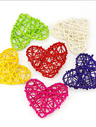 cheap -10 Piece/ Set 10CM Heart Sepak Takraw For Birthday Party & Home Wedding Party Decoration Rattan Ball