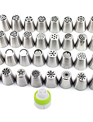 cheap -1Lot (32pcs) DIY Patterns Stainless Steel Icing Piping Nozzles Dessert Decorators Russian Pastry Tips Fondant Cup Cake Baking Tool