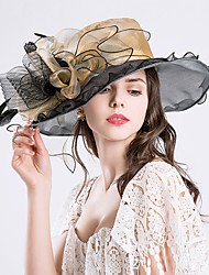 cheap -Feather Silk Organza Fascinators Hats Headpiece