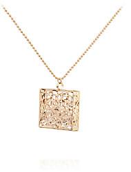 cheap -Women's Rhinestone Pendant Necklace - Personalized Geometric Unique Design Pendant Tag Statement Movie Jewelry Hypoallergenic Fashion