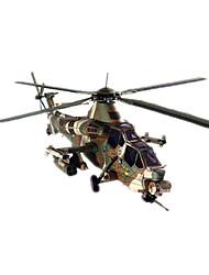Недорогие -3D пазлы Бумажная модель Наборы для моделирования Вертолет Своими руками Плотная бумага Классика Вертолет Детские Универсальные Мальчики Игрушки Подарок