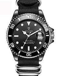 baratos -Homens relógio mecânico Chinês Calendário / Criativo Tecido Banda Amuleto / Luxo / Casual Preta / Verde / Aço Inoxidável