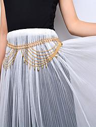 Femme Bijoux de Corps Chaîne de ventre Mode bijoux de fantaisie Alliage Goutte Bijoux Pour Scène Vêtements de Plein Air Sortie