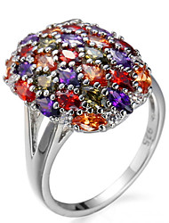 Ring Women's Euramerican Luxury Classic Gold Cross Rhinestone Zircon Ring Daily  Party Gift Movie Jewelry