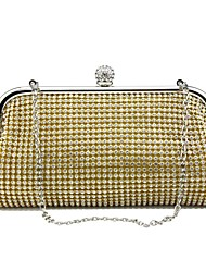 cheap -Women Bags Metal Evening Bag Rhinestone for Wedding Event/Party Casual Sports Formal Outdoor Office & Career Spring/Fall All Seasons Gold