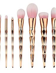 abordables -7pcs Sistemas de cepillo Pincel para Sombra de Ojos Cepillo para Base Pincel de Nylon Mate Bonito Cobertura completa Aluminio MaderaCara