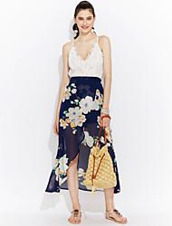 cheap -Women's Holiday / Beach Boho Sheath Dress - Patchwork Lace / Backless / Criss-Cross High Rise Asymmetrical Halter Neck / Summer / Fall