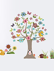cheap -Wall Stickers Wall Decas Style Cartoon Tree Animal PVC Wall Stickers