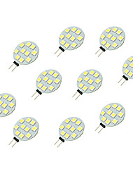 cheap -2W G4 LED Bi-pin Lights 10 leds SMD 5050 White 160lm 6000-6500K DC 12V