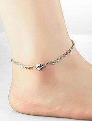 cheap -Charm Silver Women's Boho Summer Vacation Anklet Leg Chain Wing Foot Chain Jewelry